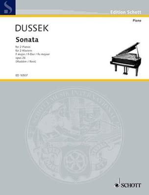 Sonate En Fa Majeur Op. 26. 2 Pianos - laflutedepan.com