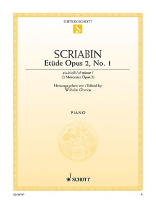 Alexander Scriabine - Estudio en C sharp Minor Opus 2-1 - Partitura - di-arezzo.es