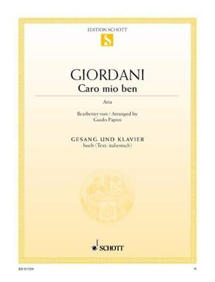 Caro Mio Ben. Voix Haute - Tommaso Giordani - laflutedepan.com