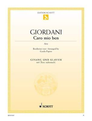 Caro Mio Ben. Voix Grave - Tommaso Giordani - laflutedepan.com