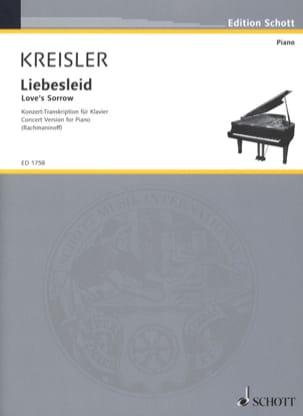 Fritz Kreisler - Liebesleid - Partition - di-arezzo.fr