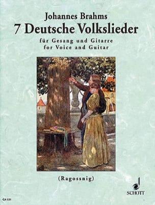 7 Deutsche Volkslieder - Brahms - Partition - laflutedepan.com