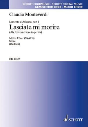 Lasciate Mi Morire - Claudio Monteverdi - Partition - laflutedepan.com
