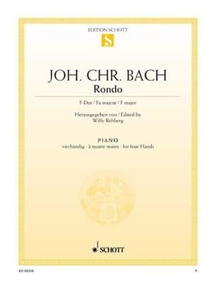 Rondo Fa Majeur Johann Christian Bach Partition Piano - laflutedepan