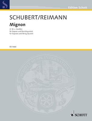 Mignon SCHUBERT Partition Musique de chambre vocale - laflutedepan