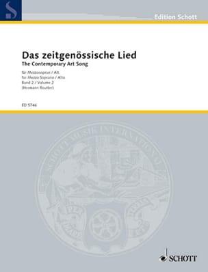 - Das Zeitgenössische Lied, Bd 2. Mezzo - Partition - di-arezzo.fr