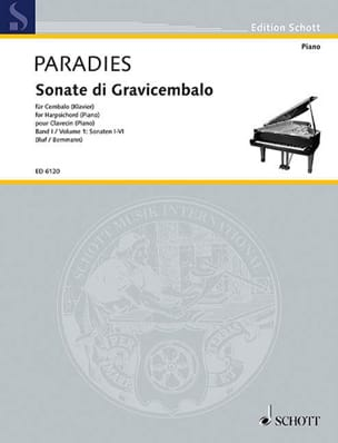 Sonates Volume 1 Pietro Domenico Paradies Partition laflutedepan