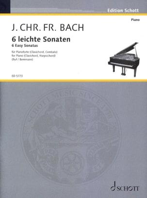 6 Leichte Sonaten - Johann Christoph Friedrich Bach - laflutedepan.com