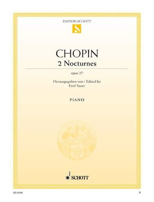2 Nocturnes op. 27 CHOPIN Partition Piano - laflutedepan