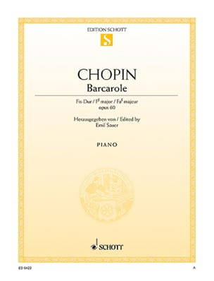 CHOPIN - Barcarolle Opus 60 - 楽譜 - di-arezzo.jp