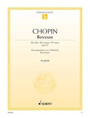 Berceuse Ré Bémol Majeur Opus 57 - Frédéric Chopin - laflutedepan.com