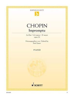 Frédéric Chopin - Impromptu la Bémol Majeur Opus 29 - Partition - di-arezzo.fr