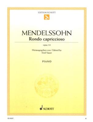 Rondo Capriccioso, Opus 14 - Félix MENDELSSOHN - laflutedepan.com