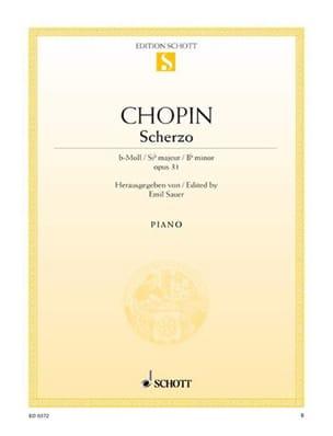 CHOPIN - Scherzo B Flat Minor, Opus 31 - Sheet Music - di-arezzo.co.uk