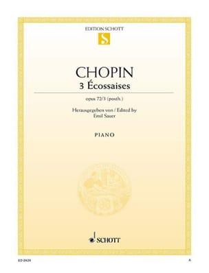 CHOPIN - 3 Scottish women, Opus 72 - Sheet Music - di-arezzo.com
