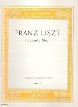 Légende N° 1 - Franz Liszt - Partition - Piano - laflutedepan.com