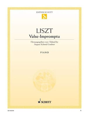 Franz Liszt - Valse-Impromptu - Sheet Music - di-arezzo.co.uk