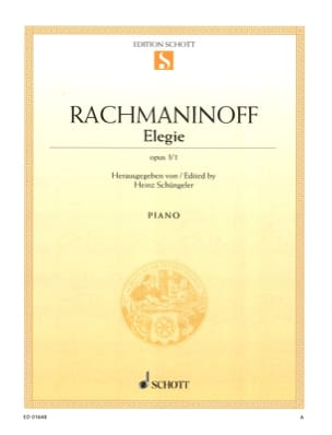 RACHMANINOV - Elegy Opus 3-1 - Sheet Music - di-arezzo.co.uk