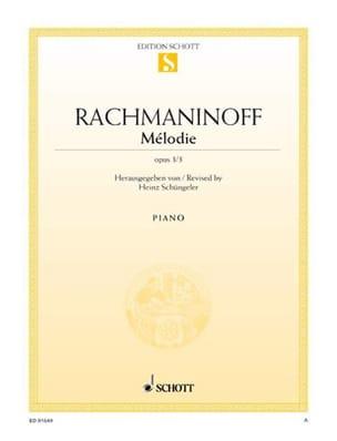 Mélodie, Opus 3-3 - RACHMANINOV - Partition - Piano - laflutedepan.com