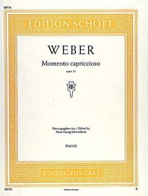 Momento Capriccioso Op. 12 Carl Maria von Weber Partition laflutedepan