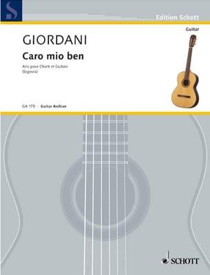 Caro Mio Ben. Vx Moyenne et Guitare - laflutedepan.com