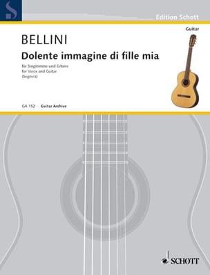 Dolente Immagine Di Fille Mia BELLINI Partition Guitare - laflutedepan