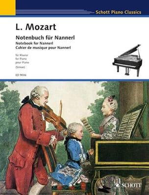 Notenbuch für Nannerl - Leopold Mozart - Partition - laflutedepan.com