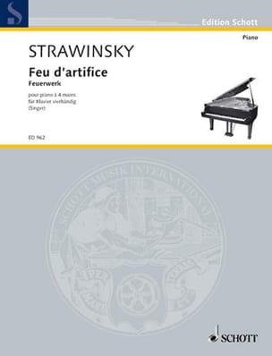 Igor Stravinski - Fireworks Op. 4. 4 Hands - Sheet Music - di-arezzo.com