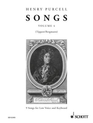 Songs, Bd. 4. Voix Grave PURCELL Partition Mélodies - laflutedepan