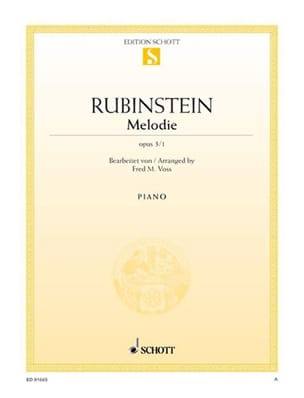 Mélodie Fa Majeur, Opus 3-1 Anton Rubinstein Partition laflutedepan