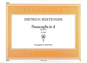 Dietrich Buxtehude - Passacaglia D-Moll (Bux Wv 161) - Partition - di-arezzo.fr