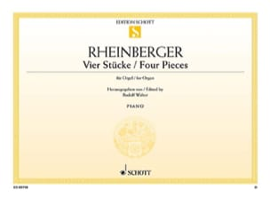 4 Stücke RHEINBERGER Partition Orgue - laflutedepan