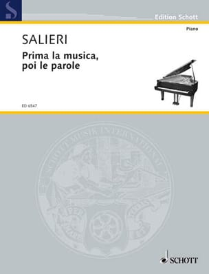 Antonio Salieri - Prima Musica, Poi the Word - Sheet Music - di-arezzo.co.uk