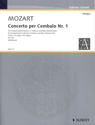 Cembalo-Konzert K 107 N° 1 En Ré Majeur - MOZART - laflutedepan.com