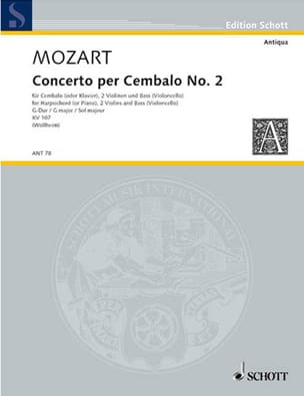 Concerto Pour Clavecin N° 2 En Sol Majeur K 107 - laflutedepan.com
