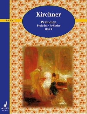 Préludes Op. 9 Theodor Kirchner Partition Piano - laflutedepan