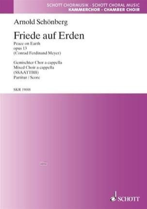 Friede Auf Erden Opus 13 Arnold Schoenberg Partition laflutedepan