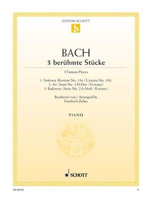 3 Berühmte Stücke - BACH - Partition - Piano - laflutedepan.com