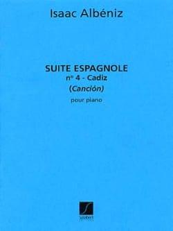 Cadiz - Isaac Albeniz - Partition - Piano - laflutedepan.com