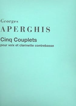 5 Couplets Georges Aperghis Partition Clarinette - laflutedepan