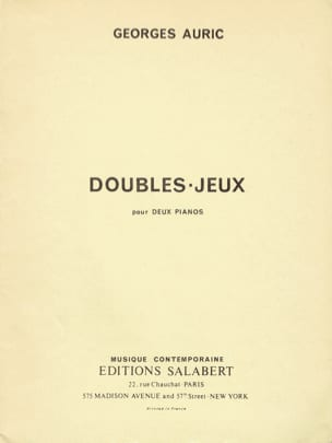 Georges Auric - Double-Jeux N°2. 2 Pianos - Partition - di-arezzo.fr
