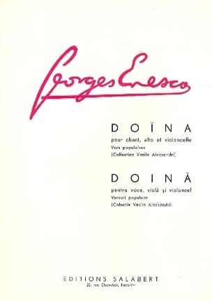 Georges Enesco - Doïna - Partition - di-arezzo.fr
