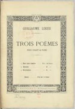 3 Poèmes - Guillaume Lekeu - Partition - Mélodies - laflutedepan.com