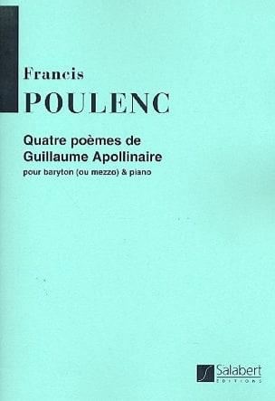 4 Poèmes d' Apollinaire - Francis Poulenc - laflutedepan.com