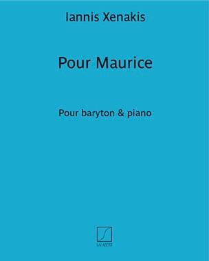 Pour Maurice - XENAKIS - Partition - Pédagogie - laflutedepan.com