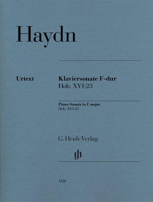 Sonate pour piano en Fa majeur Hob. 16-23 - HAYDN - laflutedepan.com