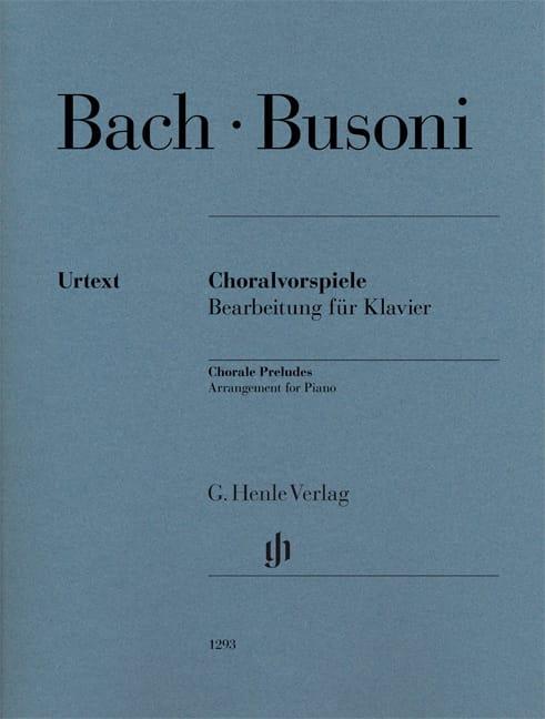Bach Jean-Sébastien / Busoni Ferruccio - Preludes of chorales - Partition - di-arezzo.com