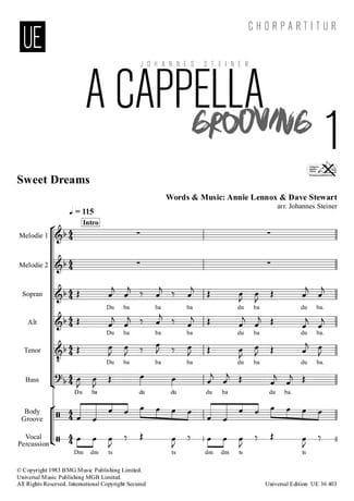 A Cappella Grooving 1. Choeur seul - Partition - laflutedepan.com