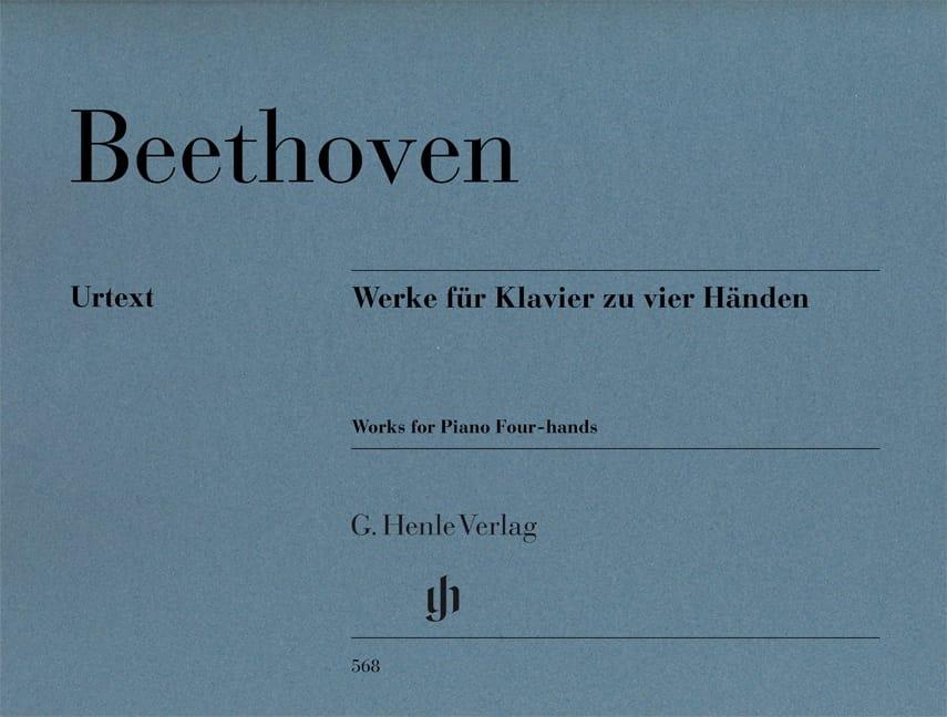 Oeuvres pour piano à 4 mains - BEETHOVEN - laflutedepan.com