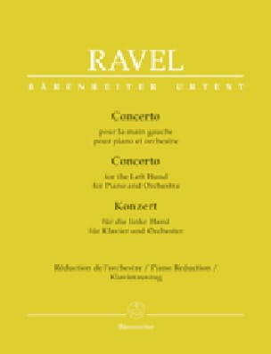 Maurice Ravel - Concerto for the left hand. 2 pianos - Partition - di-arezzo.co.uk